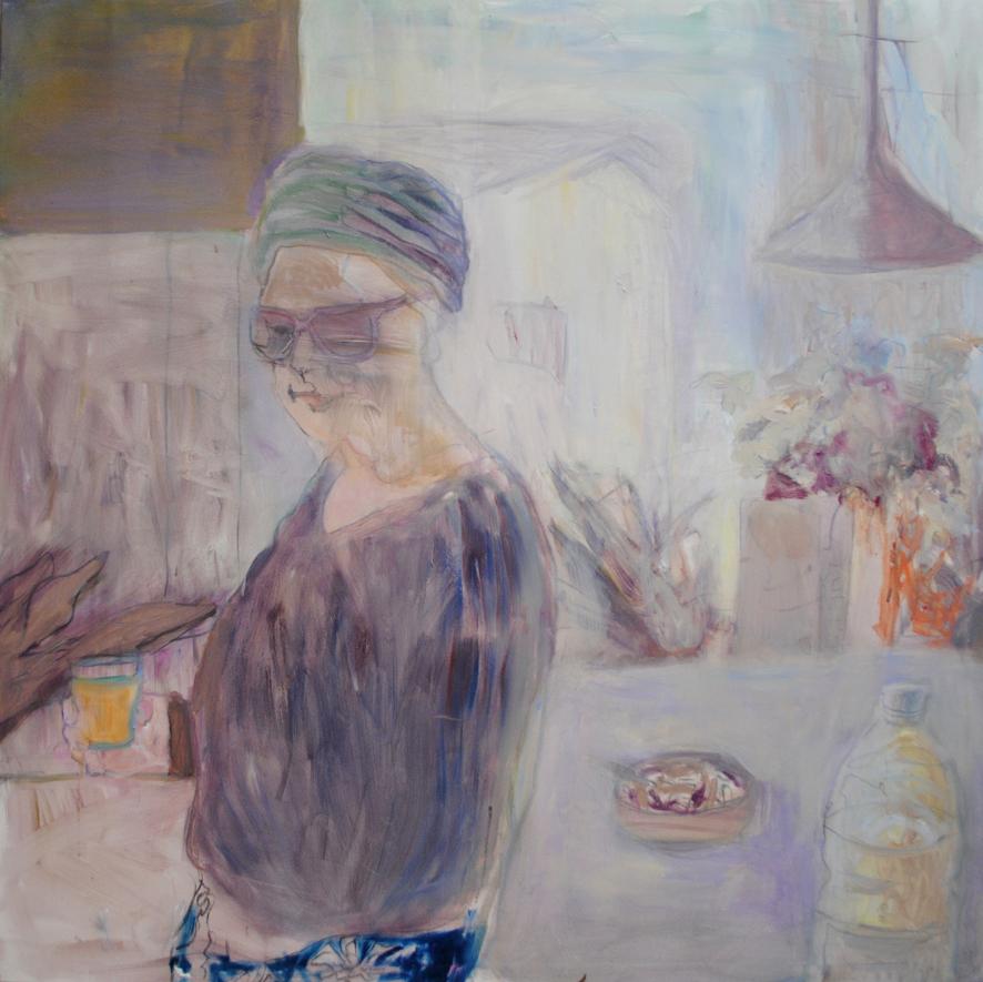 Dagen Efter , 2013, öljy, 150 x 150 cm