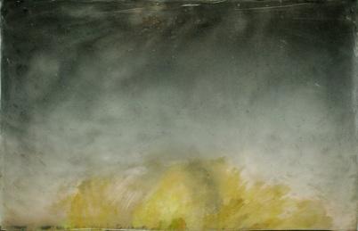 Nimetön, 2010, värituloste, akryylimedium, pleksi, liima, maalaus akryylillä, 54,5 x 36 cm