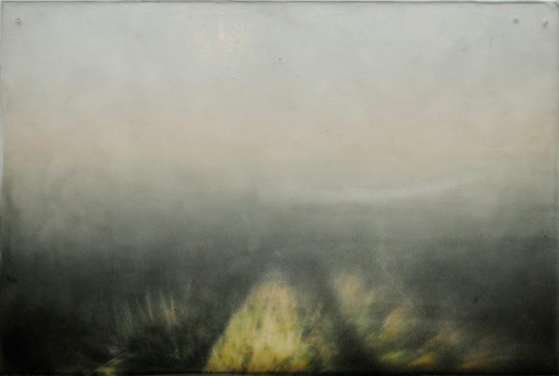Nimetön, 2010, värituloste, akryylimedium, pleksi, liima, 54 x 35 cm