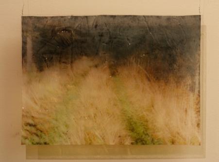 Muistijälki, 2010, värituloste, akryylimedium, pleksi, liima, 54 x 39,8 cm