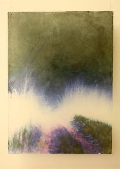 Kajastus III, 2010, värituloste, akryylimedium, pleksi, liima, 39,2 x 54 cm