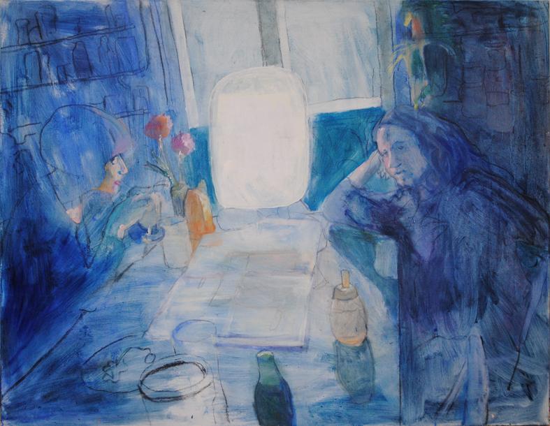 Moonshine, 2014, öljy, 145 x 115 x 145 cm, Roger Broo samling