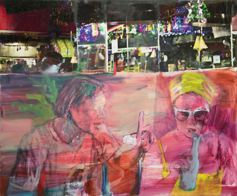Ei nyt, 2015, öljy, pigmentinsiirto, 100 x 120 cm
