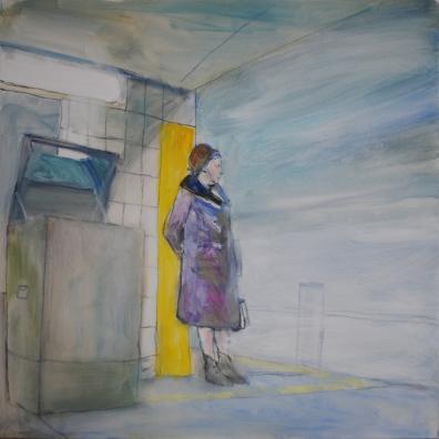 Asiaton oleskelu kielletty, 2017, öljy, 100 x 100 cm