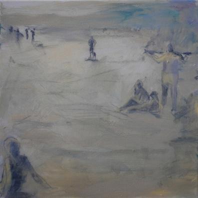 Iltapäivä rannalla, 2017, öljy, 50 x 50 cm