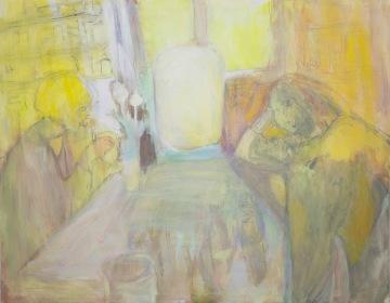 Tämä hetki, 2014, öljy, 115 x 145 cm, yksityiskokoelma