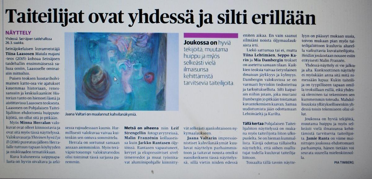 kritiikki Pohjalainen ja Ilkka