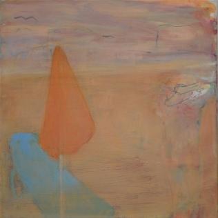 Aurinkovarjo, 2019, öljy kankaalle, 50 x 50 cm