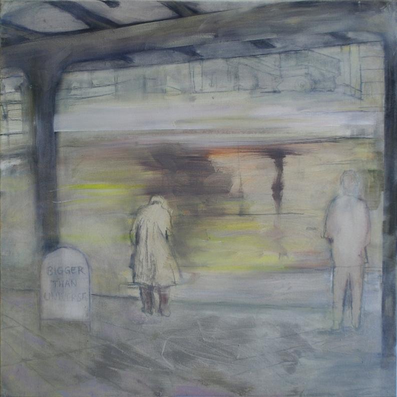 Old man, 2018, öljy kankaalle, 100 x 100 cm, yksityiskokoelma