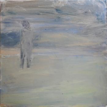Rannalla, 2017, öljy kankaalle, 50 x50 cm
