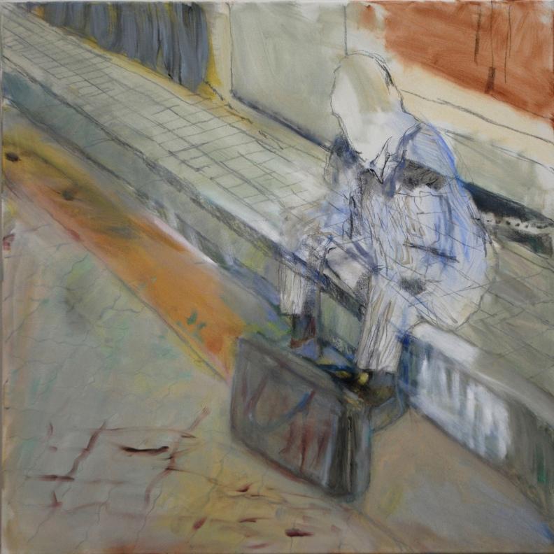 Vapaalla, 2020, öljy, 100 x 100 cm