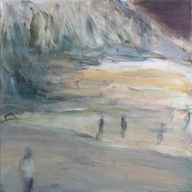 Nousuvesi, 2019, öljy, 50 x 50 cm, yksityiskokoelma