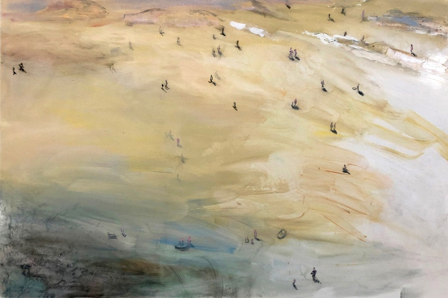 Sea of Tranquility, 2021, öljy, 100 x 150 cm